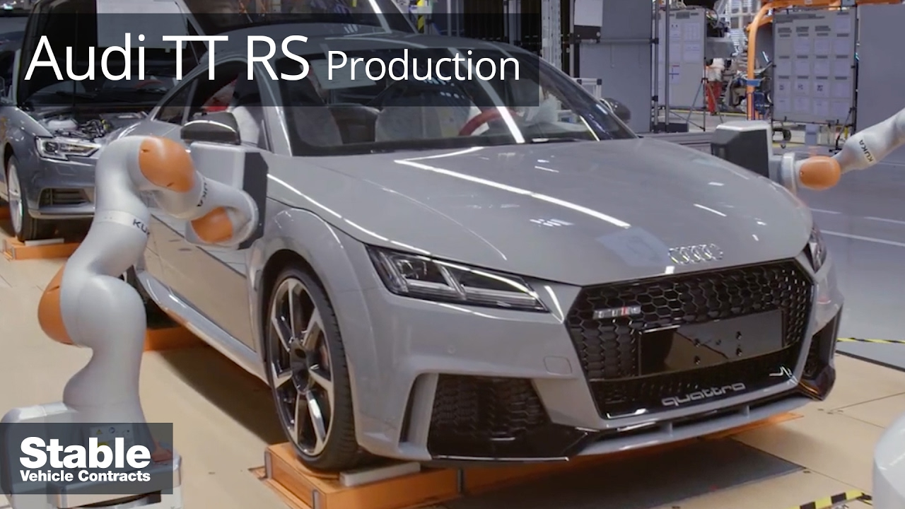 audi tt rs production and assembly line footage stable. Black Bedroom Furniture Sets. Home Design Ideas