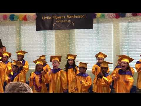Preschool graduation at Little Flowers Montessori