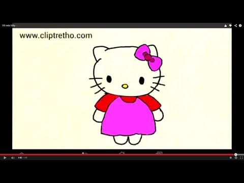 Vẽ mèo Hello kitty -How to draw Hello kitty