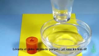 Globo que levita. Experimentos (Divertiaula). Science trick.