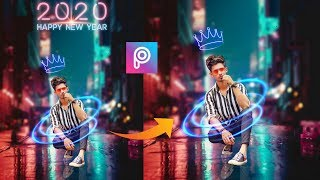 PicsArt happy New year photo editing 2020 in picsart PicsArt photo editing tutorialEditz club