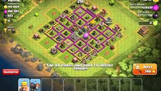 CLASH OF CLANS #2 One Barb and One Wall Breaker