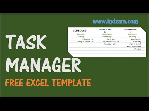 Task Manager - Free Excel Template
