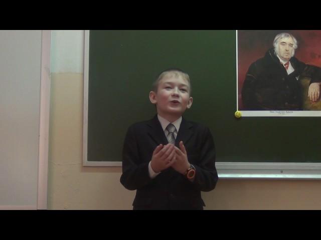 Изображение предпросмотра прочтения – ильяПаташов читает произведение «Ворона и Лисица» И.А.Крылова