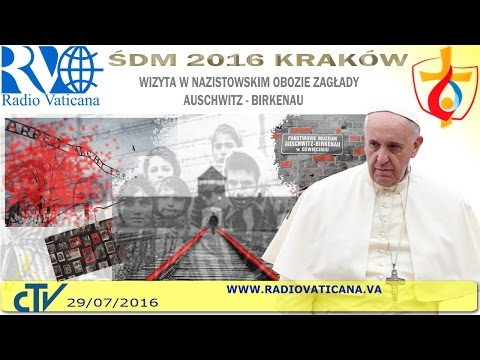 Pope Francis in Poland. Visit to the Auschwitz-Birkenau Concentration Camp
