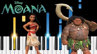 "You're Welcome (Moana Soundtrack) - Piano Tutorial - How to play ""You're Welcome"" by Dwayne Johnson"