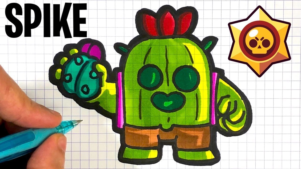 Tuto Comment Dessiner Spike Brawl Stars Youtube