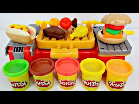 DIY Play Doh Creations Barbecue BBQ Cookout Grilling Kitchen Pretend Playset