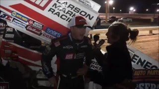 2016 World of Outlaws Craftsman Sprint Car Series Victory Lane from Arizona Speedway