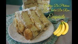 Relleno De Platano/Banana Con Salsa En Ron