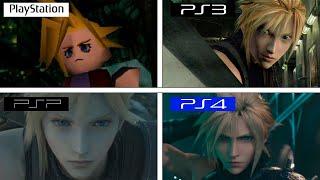 Final Fantasy VII   Intro Comparison   PS4 vs PS3 vs PSP vs PSX