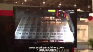 Empire Machinery: Mitsubishi 3015NX F Fiber Laser - FabTech 2012