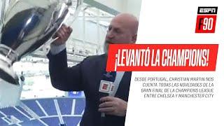 ¿ES PESADA? ¡Christian #Martin levantó la #ChampionsLeague en la previa de la gran final!