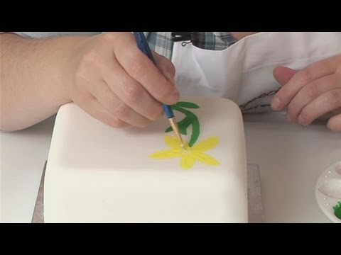 How To Paint On Your Fondant - YouTube
