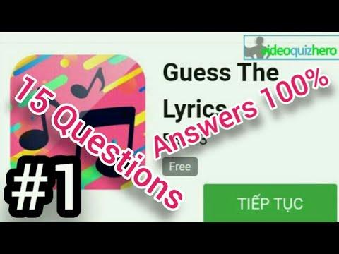 Guess The Lyrics Quiz Answers | 7R$ | VideoQuizHero | Blox.Land