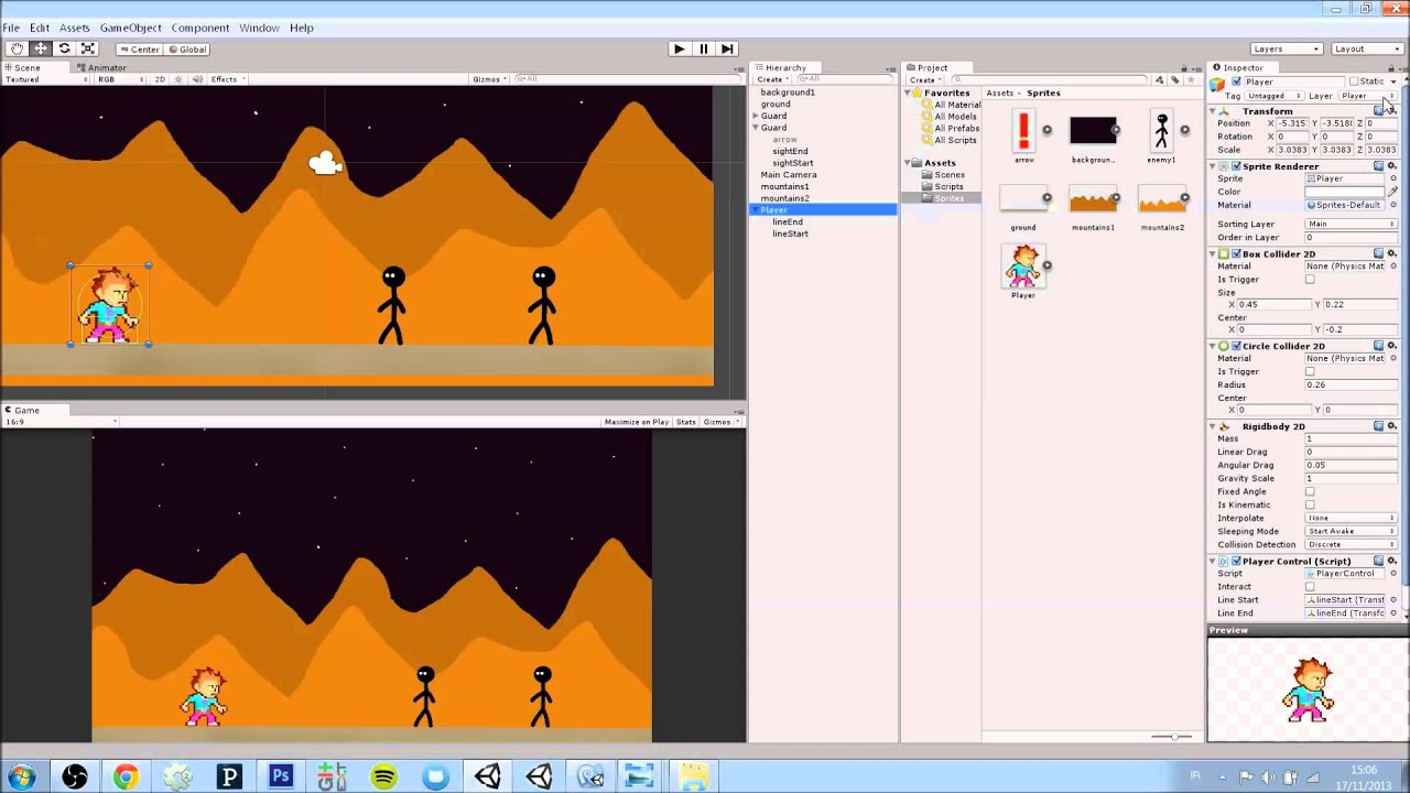 Unity 2D - Part 6: Ignore Layer Collisions