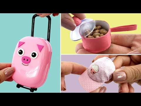 DIY Miniature - 3 Cute Ideas for Barbie Dolls - Hacks and Crafts
