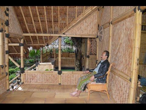 Desain Rumah Bambu 2 Lantai