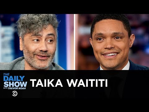 "Taika Waititi – Playing a Buffoonish Hitler in ""Jojo Rabbit""   The Daily Show"