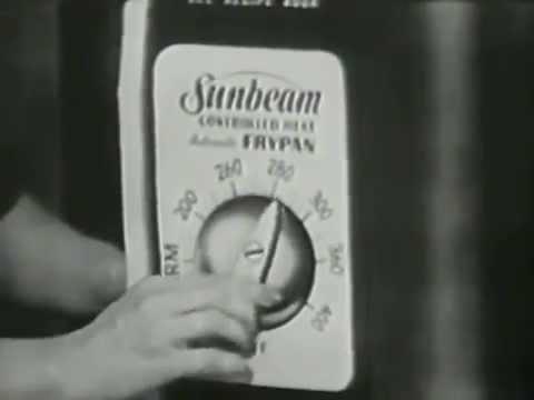 "VINTAGE 1956 SUNBEAM APPLIANCE COMMERCIAL - ELECTRIC SKILLET ""LOVE AFFAIR"""