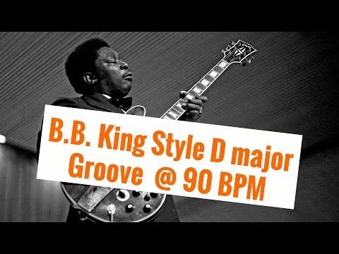 B.B. King Style D major Groove  @ 90 BPM