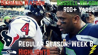 Deshaun Watson & Russell Wilson Week 8 Regular Season Highlights Respect! | 10/29/2017