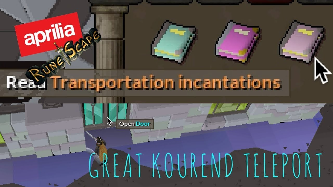[OSRS] Great Kourend Teleport Unlock Guide (Transportation Incantations)
