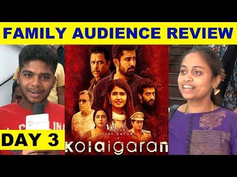 Kolaigaran Family Audience Review - Day 3 | vijay Antony | Arjun | Ashima Narwal | Kalakkal Cinema