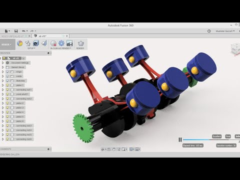 Design of V6 engine + working (PART-1) -fusion 360 tutorial