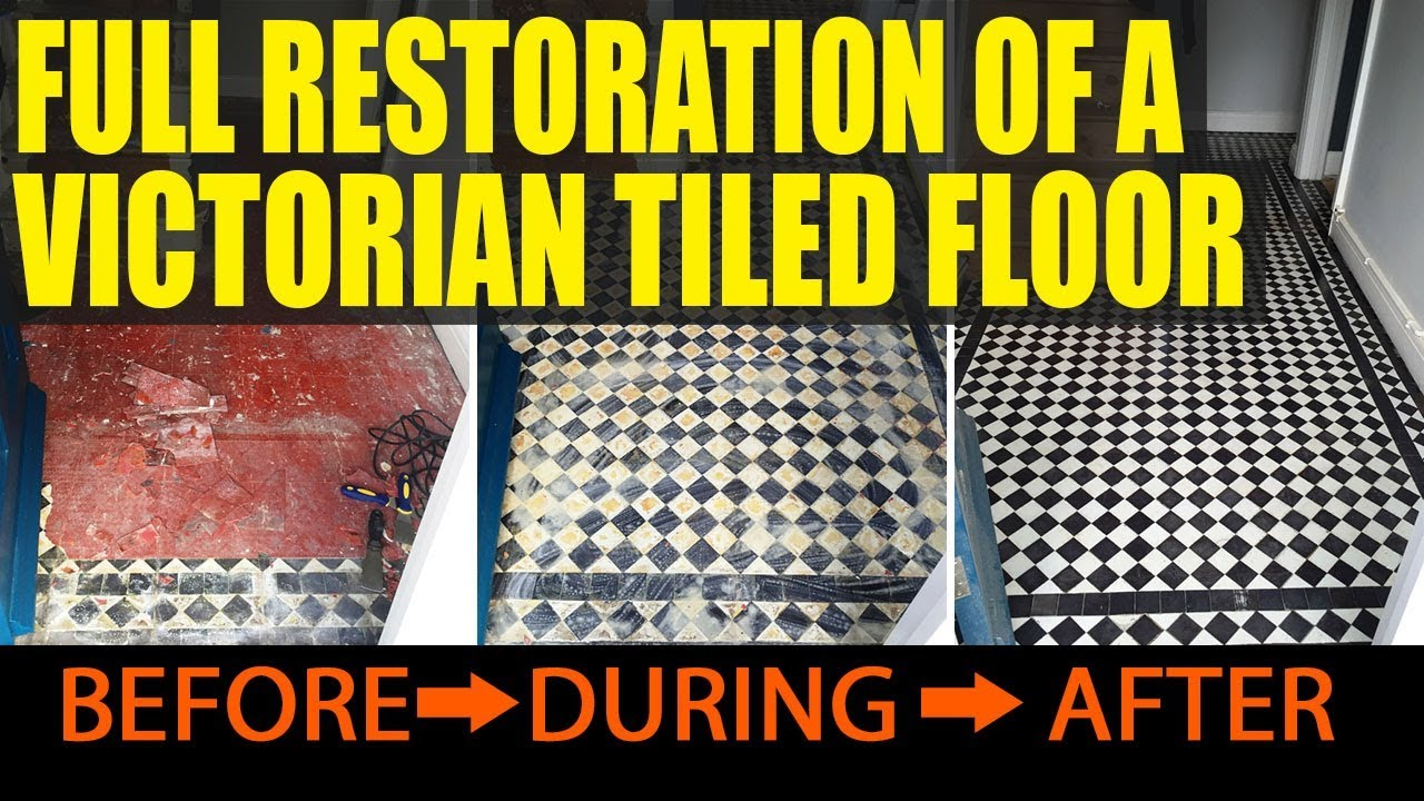 Full restoration of a victorian tiled floor in oxford youtube dailygadgetfo Gallery