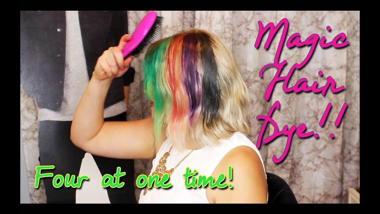 Magic Color Changing Hair Dye Pravana Vivids Mood Color Youtube