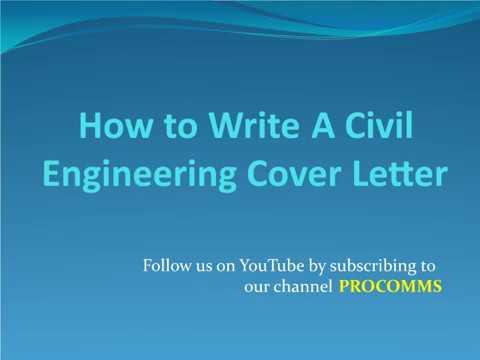 Видео Cover letter civil engineer uk