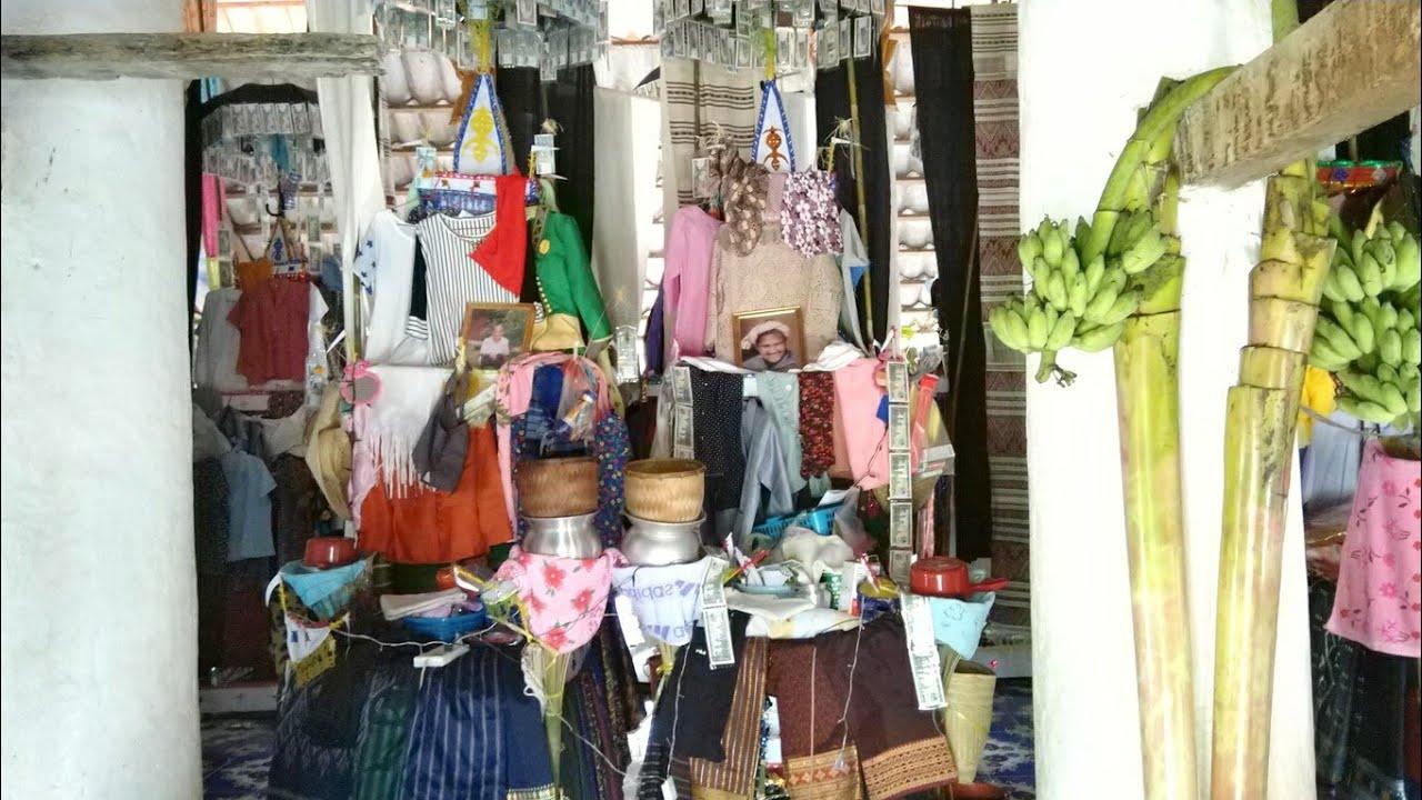 Luang Prabang EP21: ບຸນຕານທຳໄຕລື້ນາຍາງ || ดูงานบุญตานธรรม หรือ บุญพระเวสสันดร ไตลื้อนายาง หลวงพระบาง