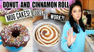 I tried making DONUT and CINNAMON ROLL Mug Cakes... Does it work?!  | Tasty Tuesday