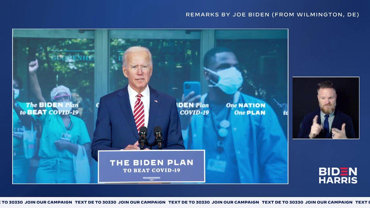 Vice President Joe Biden's Remarks on COVID-19 LIVE in Wilmington, DE