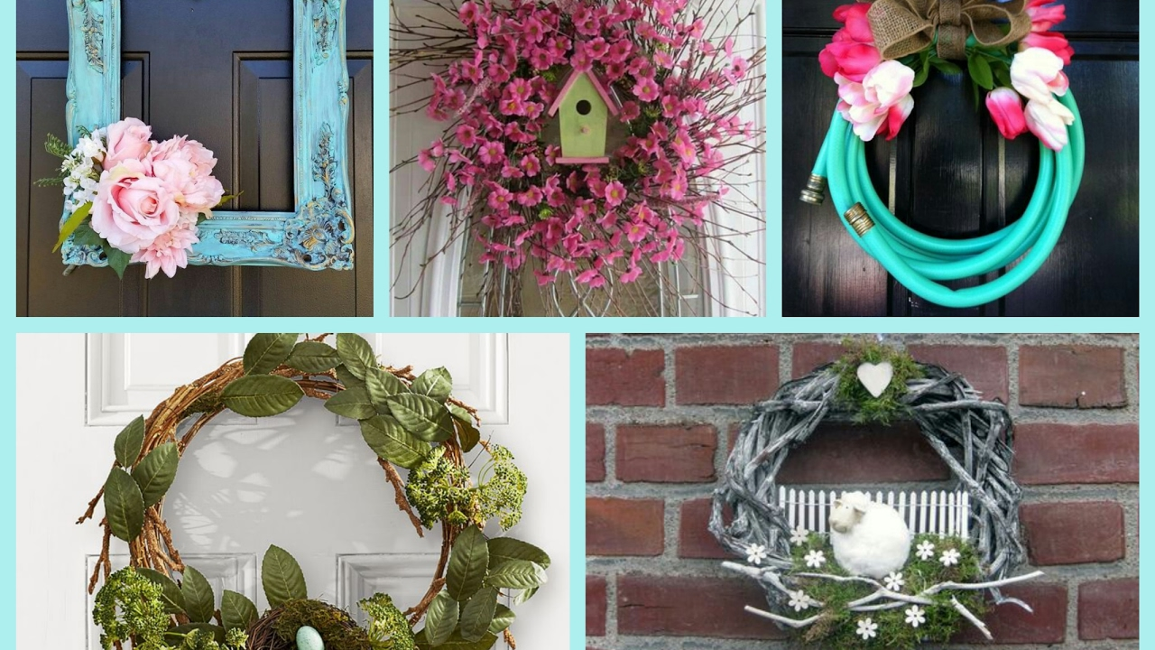 Spring Wreaths Ideas   Spring Decorating Ideas   DIY Wreath Ideas     Spring Wreaths Ideas   Spring Decorating Ideas   DIY Wreath Ideas