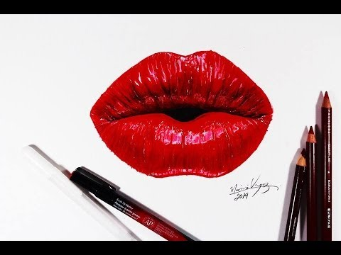 How to draw realistic lips ? | Part 1 | Pencilgram - YouTube