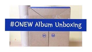 # UNBOXING / ONEW VOICE MINI FIRST ALBUM / BLUE /샤이니 온유 미니 앨범
