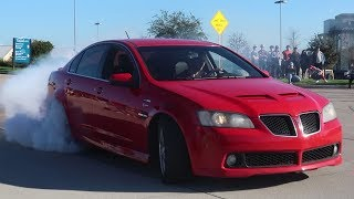 MUSCLE CAR MAYHEM! MUSCLE CARS GET WILD LEAVING CARS AND COFFEE TOWNLAKE!!!