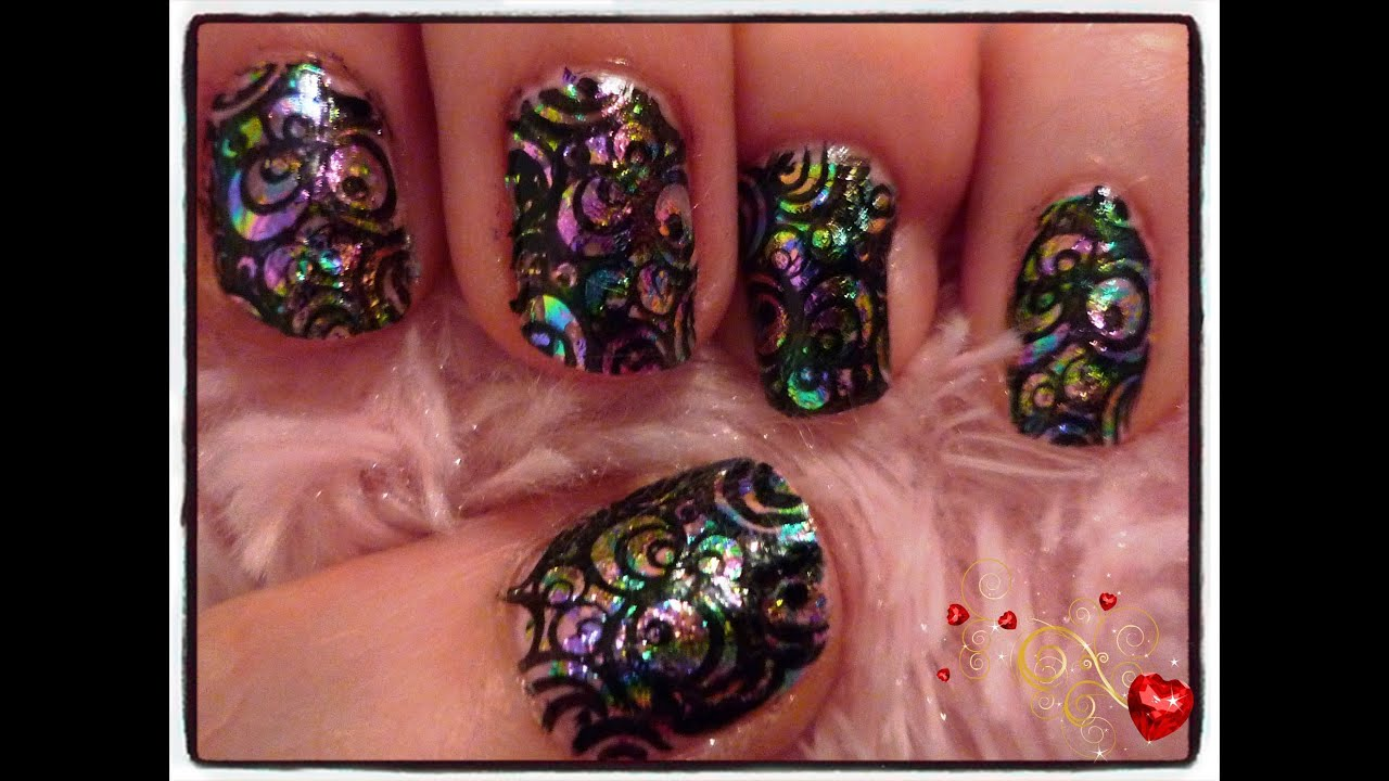 Foils and Stamping Nail Design - YouTube