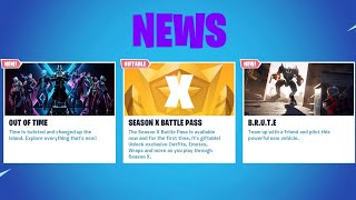 *NEW* SEASON X IS OFFICIALLY HERE! NEW BATTLE PASS + SKINS! (Fortnite Battle Royale)