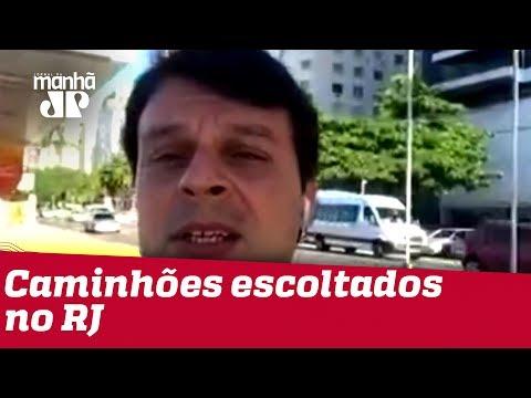 Caminhões Com Gasolina E Comida São Escoltados No Rio De Janeiro | Jornal Da Manhã