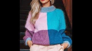 Свитер Спицами - урок-обзор - 2019 / Sweater Knitting Lesson Review