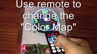 Arduino POV Persistence of Vision Propeller Clock