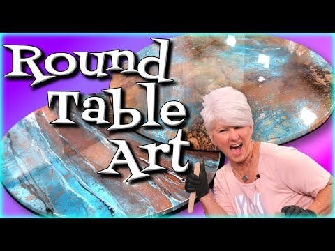 Round Table Resin Art