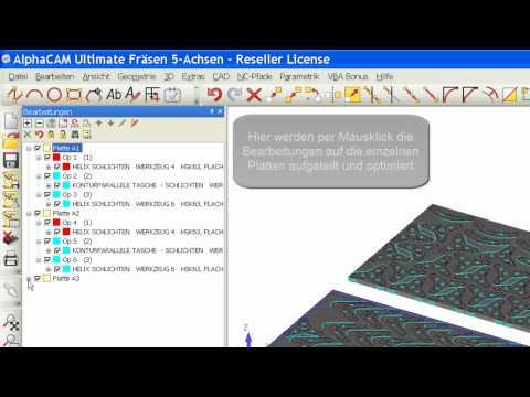 Licom-AlphaCAM-Schachteln (CAD-CAM-CNC-Nesting-Verschnitt-Optimierung)