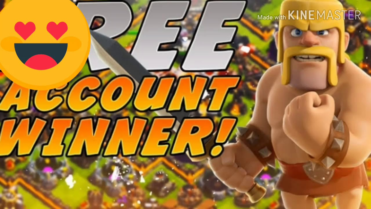 Clash of clans account giveaway