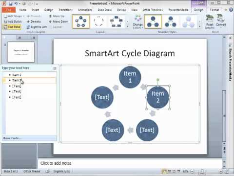 Create diagrams in powerpoint 2010 using smartart youtube create diagrams in powerpoint 2010 using smartart ccuart Image collections