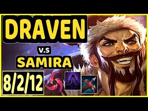 FREEZE (DRAVEN) vs SAMIRA - 8/2/12 KDA BOTTOM ADC GAMEPLAY - EUW Ranked GRANDMASTER
