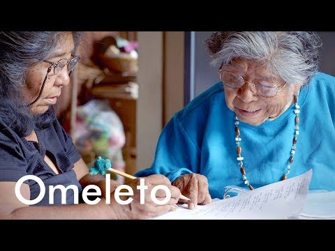 She's the last Native American to speak her language. So she created a dictionary to keep it alive.
